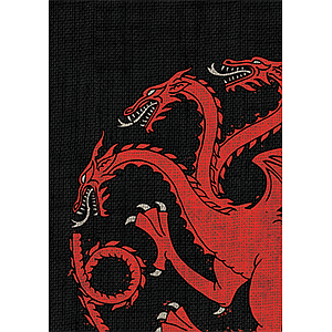 Game of Thrones House Targaryen Card Sleeves Board Game Size: Standard Card Game