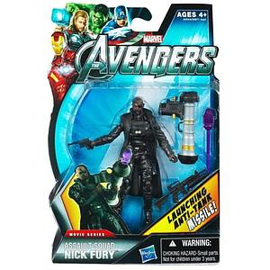 "Marvel Universe Avengers Movie 4"": Assault Squad Nick Fury (Launching Anti-Tank Missiles)"