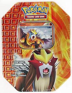Pokemon Trading Card Game Heartgold & Soulsilver Fall Tins 2010: Entei