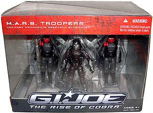 G.I. Joe Movie The Rise of Cobra 3 3/4 Inch 3-Packs: M.A.R.S Troopers (Military Armaments Research Syndicate)
