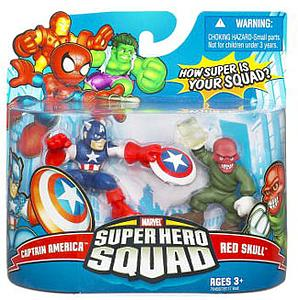"Marvel Super Hero Squad 2"" 2-Pack: Captain America & Red Skull"
