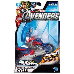 Marvel Movie Avengers Battle Chargers: Furyfire Assault Cycle (Captain America)