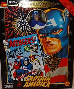 Toybiz Marvel Famous Covers Series First Appearances Action Figure Captain America