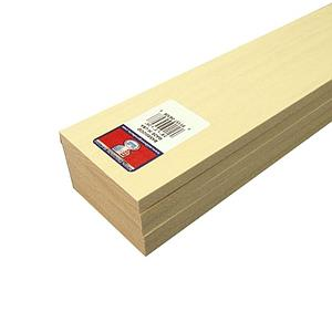 Basswood Sheets 3/8x3x24 [5 Pack] (4308)