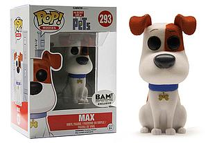 Pop! Movies The Secret Life of Pets Vinyl Figure Max (Flocked) #293 BAM Exclusive