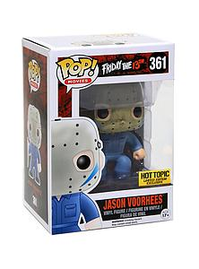 Pop! Movies Friday the 13th Vinyl Figure Jason Voorhees (Blue) #361 Hot Topic Exclusive