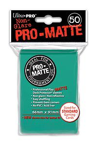Non-Glare Pro-Matte: Aqua Standard Card Sleeves (66mm x 91mm)