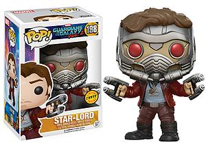 Pop! Marvel Guardians of the Galaxy 2 Vinyl Bobble-Head Star-Lord #198 (Chase)