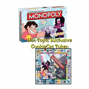Monopoly: Steven Universe Edition (Cookie Cat Token) Hot Topic Exclusive