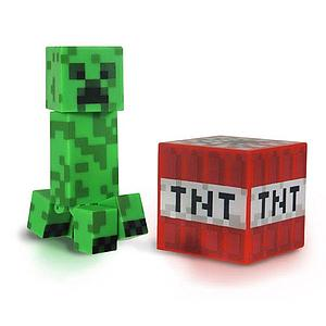 "Minecraft 3"" Figures Series 1: Creeper with Accessory"