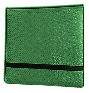 12 Pocket Binder: Green (Dragon Textured)
