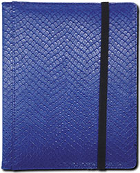 4 Pocket Binder: Blue (Dragon Textured)