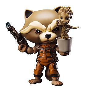 Egg Attack Action: Rocket Raccoon with Dancing Groot EAA-023