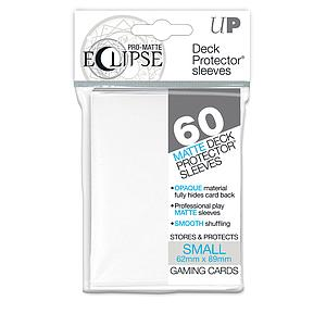 Eclipse Pro-Matte: White Small Card Sleeves (62mm x 89mm)