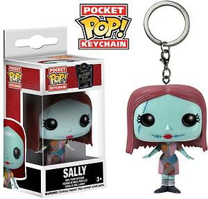 Pop! Pocket Keychain Nightmare Before Christmas Vinyl Figure Sally (Glow in the Dark) Hot Topic Exclusive