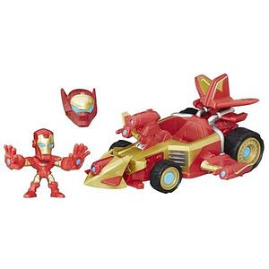 Marvel Super Hero Mashers Micro Sonic Overdriver Vehicle & Iron Man Figure