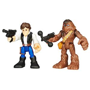 Star Wars Galactic Heroes 2-Pack Han Solo & Chewbacca Mini Figure