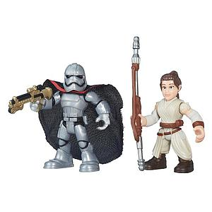 Star Wars Galactic Heroes 2-Pack Rey (Jakku) & Captain Phasma Mini Figure