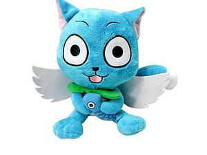 Fairy Tail Plush Happy with Fish & Wings (10 Inch)
