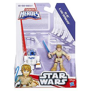 Star Wars Galactic Heroes 2-Pack R2-D2 & Luke Skywalker Mini Figure