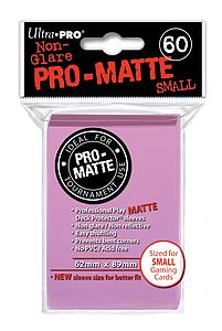 Non-Glare Pro-Matte: Pink Small Card Sleeves (62mm x 89mm)