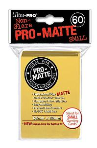 Non-Glare Pro-Matte: Yellow Small Card Sleeves (62mm x 89mm)