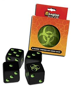 9-Pack Dice D6 Set - Iconic Biohazard