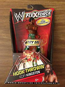 Mattel WWE Flexforce Hook Throwin': Kofi Kingston