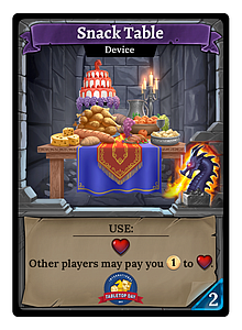 Clank! Snack Table Card (Single)