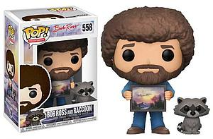 Pop! Television The Joy of Painting Vinyl Figure Bob Ross & Raccoon #558