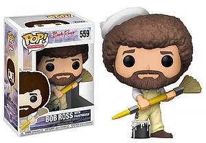 Pop! Television The Joy of Painting Vinyl Figure Bob Ross with Paintbrush #559