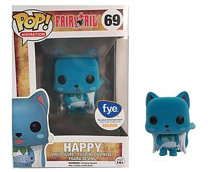 Pop! Animation Fairy Tail Vinyl Figure Happy (Flocked) #69 FYE Exclusive