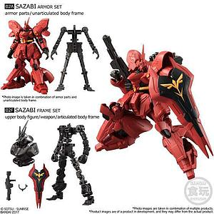 Bandai Shokugan Mobile Suit Gundam G-Frame Vol. 1 Model Kit: Sazabi Set A