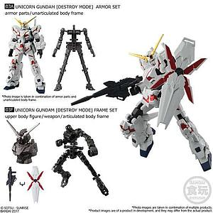 Bandai Shokugan Mobile Suit Gundam G-Frame Vol. 1 Model Kit: Unicorn Gundam Set B