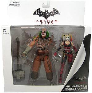 DC Collectibles Arkham City 2-Packs: Mr Hammer & Harley Quinn