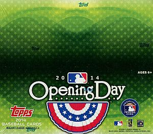 2014 MLB Opening Day Baseball: Hobby Box (36 Packs)