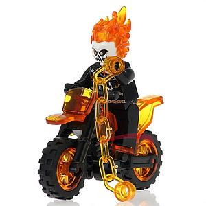 Marvel Comics SuperHeroes Minifigure: Ghost Rider with Motorcycle (Large)