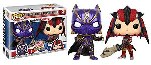 Pop! Games Marvel vs. Capcom Vinyl Figure 2-Pack  Black Panther vs. Monster Hunter
