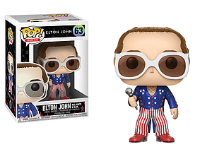 Pop! Rocks Vinyl Figure Elton John (Red, White, & Blue) #63