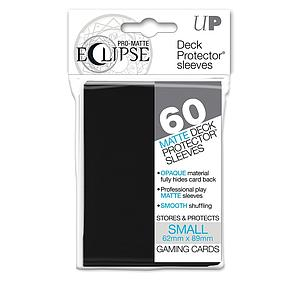 Eclipse Pro-Matte: Black Small Card Sleeves (62mm x 89mm)