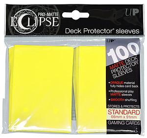 Card Sleeves 100-pack Eclipse Pro-Matte Standard Size: Yellow