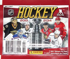 2013-14 Panini NHL Album Stickers Pack (7 Cards)