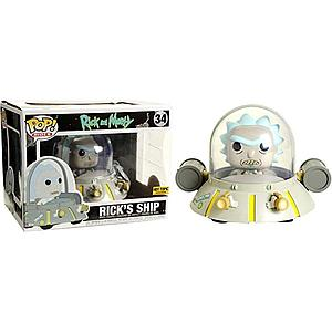 Pop! Rides Animation Rick & Morty Vinyl Figure Rick's Ship #34 Hot Topic Exclusive