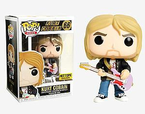 Pop! Rocks Vinyl Figure Kurt Cobain (Black Sweater) #66 Hot Topic Exclusive