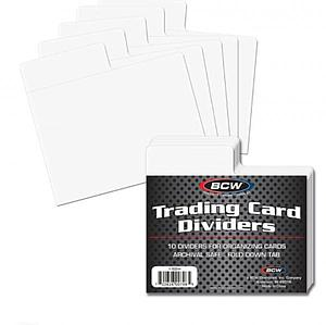 Trading Card Dividers: Horizontal