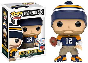 Pop! Football NFL Vinyl Figure Aaron Rodgers (Throwback) (Green Bay Packers)  #43 Toys R Us Exclusive