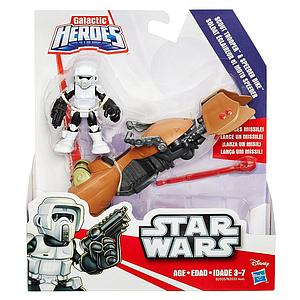 Star Wars Galactic Heroes Mini Figure 2-Pack Scout Trooper & Speeder Bike