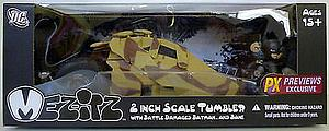 Mez-Itz The Dark Knight Rises 2 Inch Scale: Tumbler (With Battle Damaged Batman and Bane)