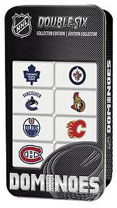 NHL Canadian Teams Double-Six Dominoes