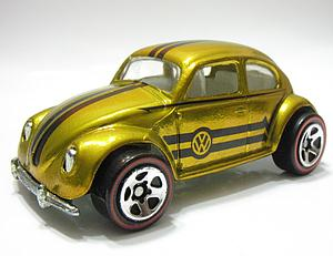 Hot Wheels Classics Series 1 Cars Die-Cast: VW Bug (Gold)